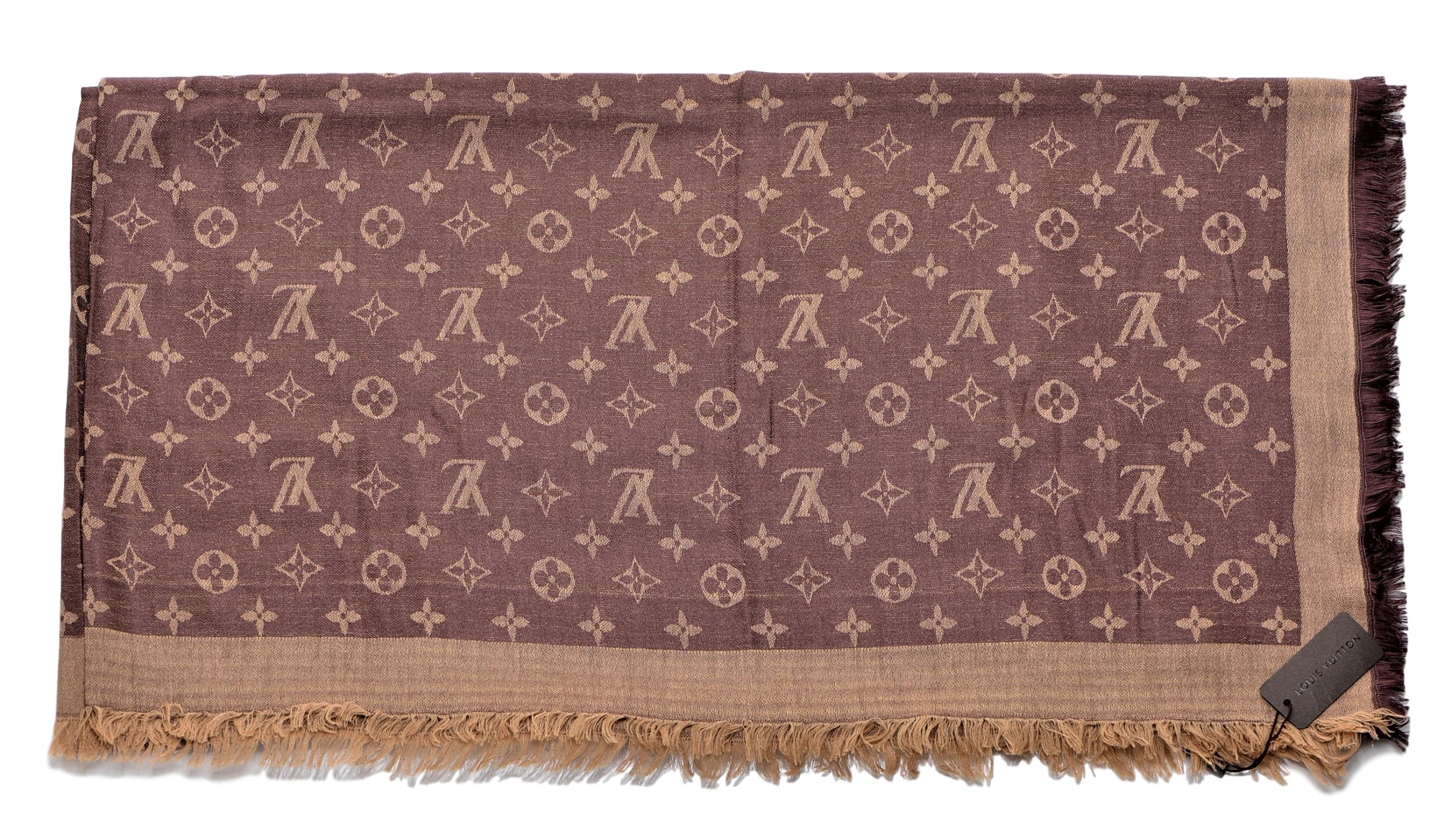 afca4aaef324 Louis Vuitton Women s Cashmere Wool Scarf shawl Khaki M71376 One Size