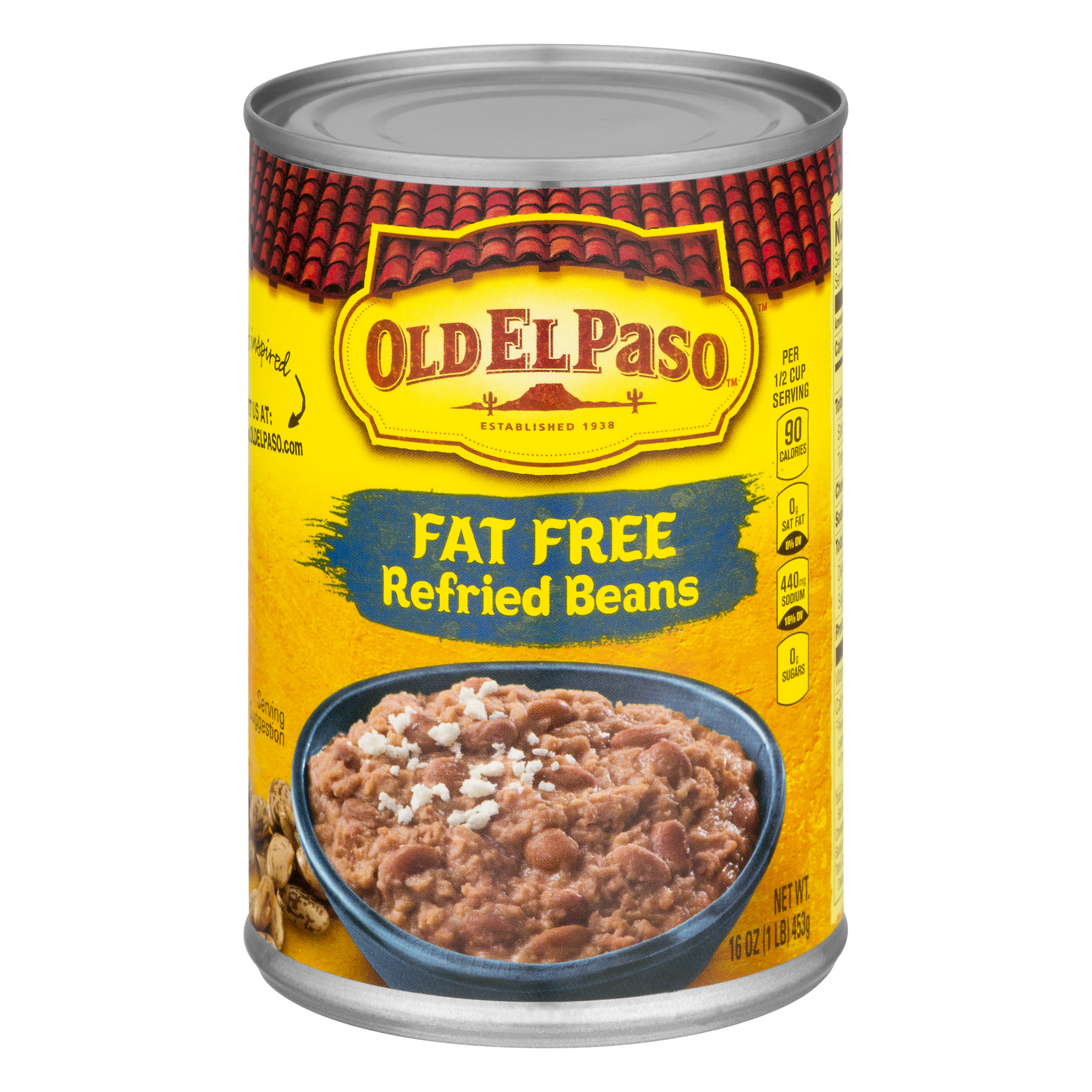 Old El Paso™ Fat Free Refried Beans 16 oz Can