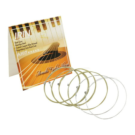 Acoustic Folk Guitar Strings Replacement Full Set 6pcs(.011-.052) Steel Core Copper Alloy Wound with End Ball Medium (Japanese Wooden Toy With Ball And String)