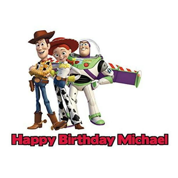 Fine Toy Story Edible Frosting Image Cake Topper Sheet 1 4 Sheet Personalised Birthday Cards Arneslily Jamesorg
