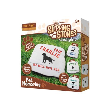 Perfect Craft Indoor/Outdoor Stepping Stones Pet Memory Casting Kit](Crafting Stores)