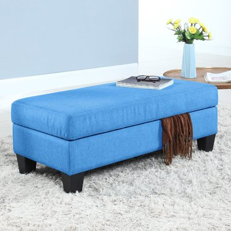 Madison Home USA Classic Upholstered Storage Bench - Madison Storage Bench