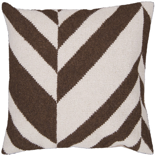 Surya Diagonal Decorative Pillow - Ivory