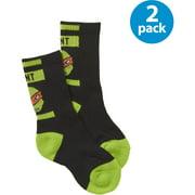Teenage Mutant Ninja Turtles, Boys Socks, 2 Pack Crew Socks (Little Boys & Big Boys)