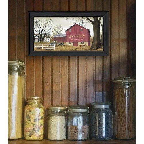 Trendy Decor 4U Antique Barn Deco Framed Graphic Art Print On Canvas