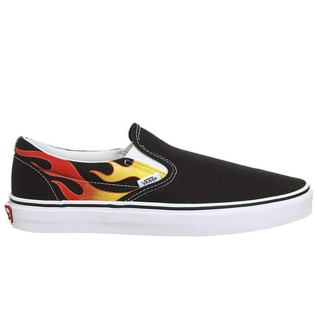 Vans Classic Slip On Flame Black/True White Men's Skate Shoes Size 11](Vans Sizing Chart)