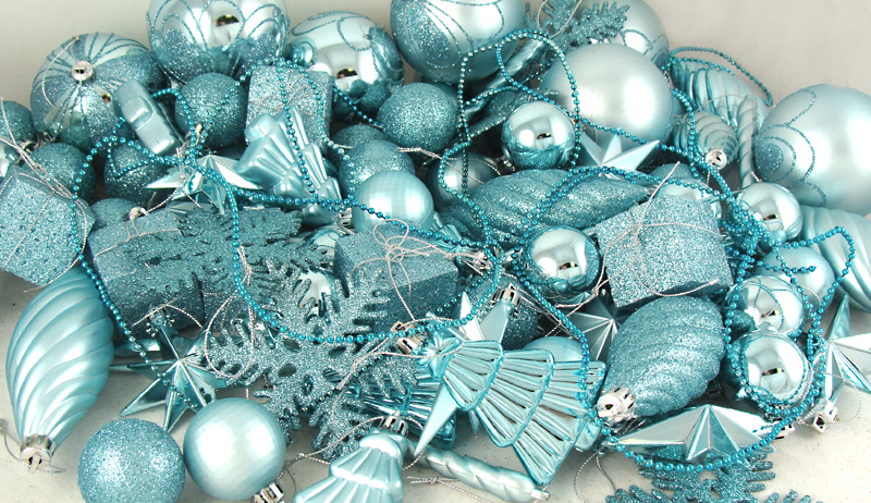 125 piece club pack of shatterproof silver splendor christmas ornaments walmartcom - Aqua Christmas Decorations