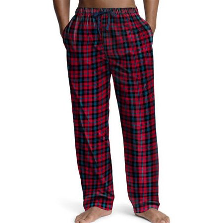 Mens Cotton Blend Woven Sleep Lounge Pajama Pant - 3 Color Combinations, 40385 Red/Black Plaid / Small ()