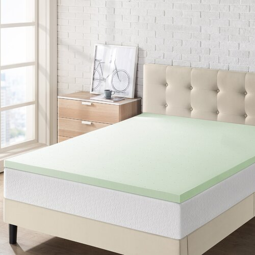 Alwyn Home Briella 1.5'' Memory Foam Mattress Topper
