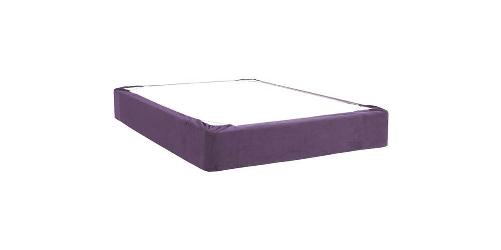 Box Spring Cover in Eggplant (Twin: 75 in. L x 38 in. W x 13.5 in. H (5 lbs.)) by Howard Elliott Collection