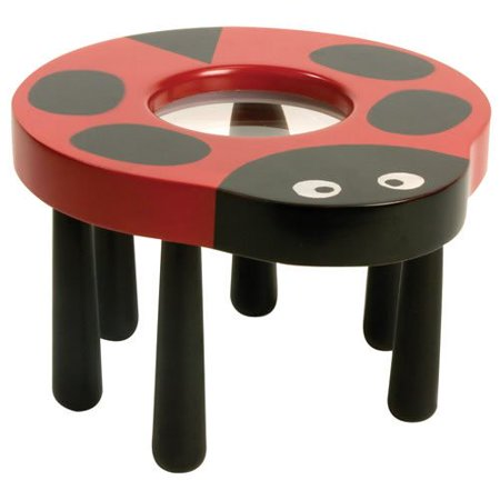 Ladybug Tabletop Magnifier, Six legs mimic ladybug anatomy and add stability By Insect Lore Ship from US