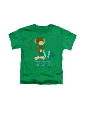 Whatever I Did I Didn't Do It Funny Monkey Graphic Little Boys Tod Tee