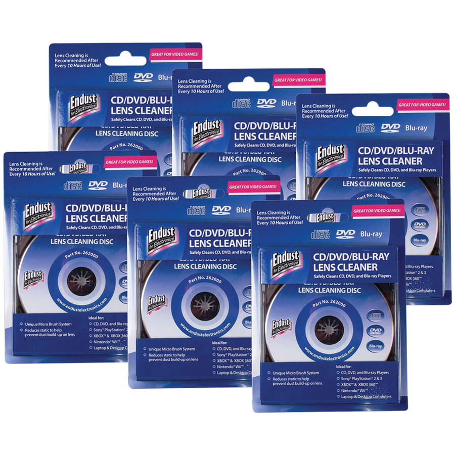 6PK CD/DVD LENS CLEANER FOR CD/DVD/BLU-RAY/GAME CONSOLE