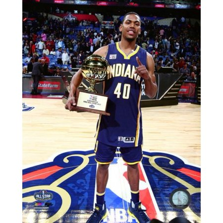 Glenn Robinson with the NBA Slam Dunk Contest Trophy 2017 NBA All-Star Game Photo -