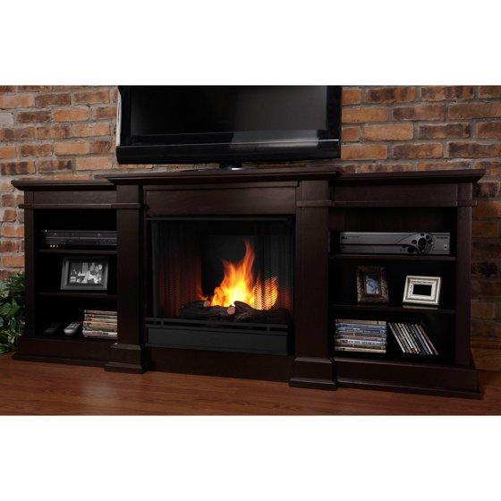 Free Shipping. Buy Real Flame Fresno Ventless Gel Fireplace - Dark Walnut at Walmart.com
