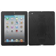 Impact Rugged Hard + Silicone Protective Case w/ Stand for iPad 2, 3, 4