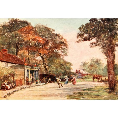Poets Country 1907 Kingsbury Green Stretched Canvas - Francis S Walker (18 x 24)