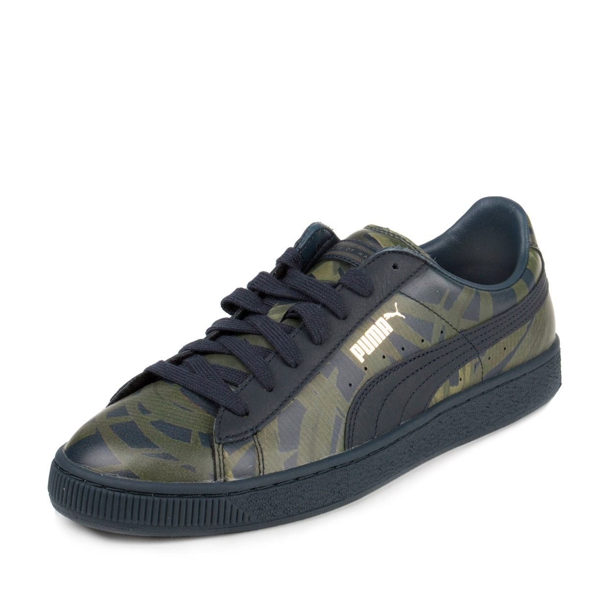 """Puma Mens Basket x HOH Palm """"House of Hackney"""" Total Eclipse/Green 358470-01"""