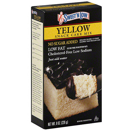 Sweet 'N Low Yellow Snack Cake Mix, 8 oz (Pack of 6)