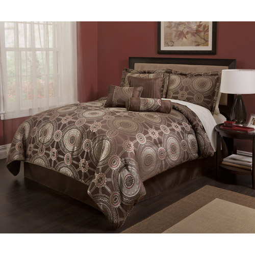Baltic Linen Princeton Allover Jacquard Deluxe 7-Piece Bedding Comforter Set