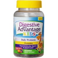 Digestive Advantage Daily Probiotic Gummies for Kids, 60 count (Pack of 4)