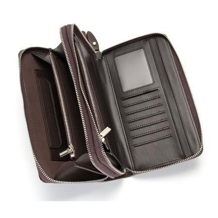 Men/'s Sac à main sacs à main Sacs Téléphone Haute Qualité déversées en Cuir Long Grand portefeuilles