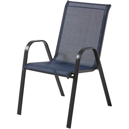 Groovy Mainstays Heritage Park Stacking Sling Chair Navy Blue Download Free Architecture Designs Meptaeticmadebymaigaardcom