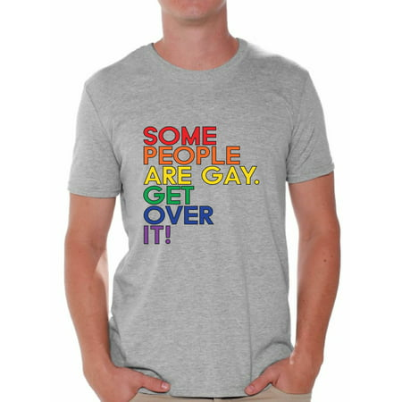 Awkward Styles Some People are Gay Get Over It T Shirt Gay Pride Flag Tshirt for Him Gay Mens Shirt Gay Flag T Shirt Gay T Shirt Mens Tshirt for Gay Boyfriend Rainbow Gay T Shirt Gay Tshirt for Him