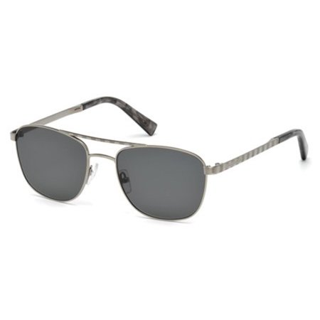 - Sunglasses Ermenegildo Zegna EZ 0071 14A shiny light ruthenium / smoke