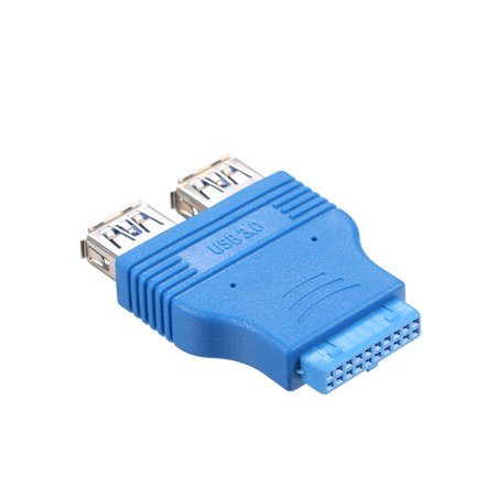 Dual USB 3.0 Type-A Female to Motherboard Adapter Card 20Pin Header Connector - image 5 of 7