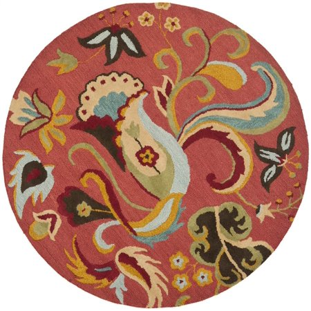 Country Round Woolen Area Rug in Multicolor (4 ft. Dia.) ()