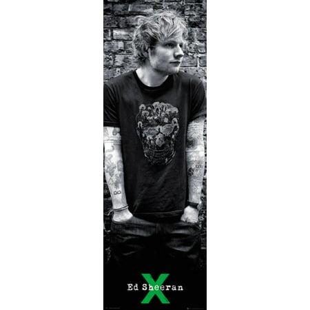 Ed Sheeran Skull Music Door Giant Poster 21x62 inch inch