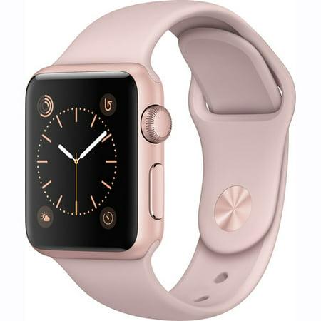 Refurbished Apple Watch Gen 2 Ser  1 38Mm Rose Gold   Pink Sand Sport Band Mnnh2ll A