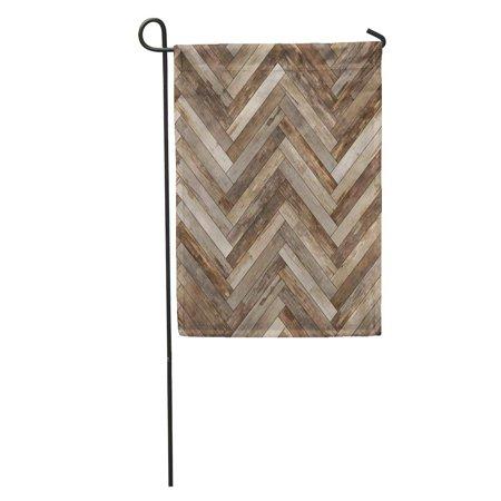 - SIDONKU Arrow Wood Parquet Herringbone Old Ash Beechwood Chevron Floor Flooring Garden Flag Decorative Flag House Banner 28x40 inch