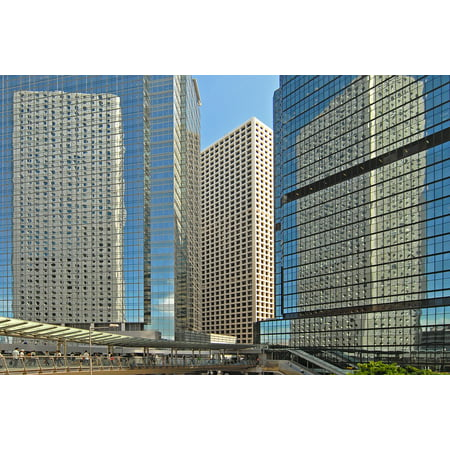 LAMINATED POSTER Architecture Skyscrapers Hong Kong Mirroring Poster Print 24 x 36