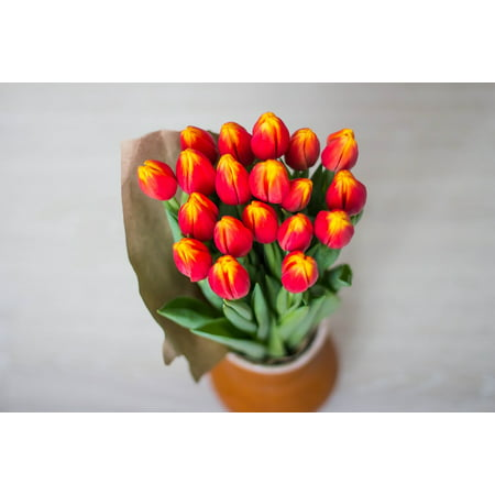 LAMINATED POSTER Tulips Bouquet Women's Holiday Bright Multi Color Poster Print 24 x 36