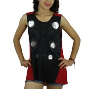 Marvel Thor Suit Women's Red Blouse NEW Sizes S-L