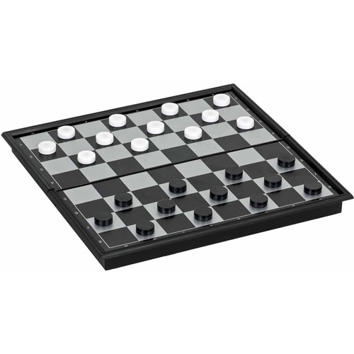 Magnetic Checkers Set, Small Travel Size