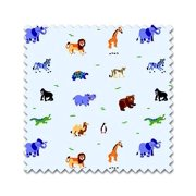Wild Animals Collection Percale Sheets w Tigers & Elephants (1 yard)