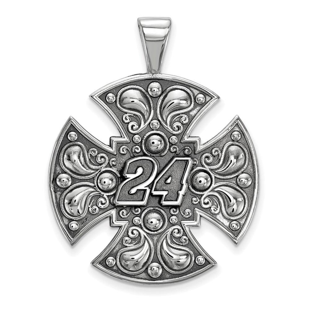 Solid 925 Sterling Silver LARGE MALTESE CROSolid 925 Sterling Silver FOR MEN (32mm x 42mm)
