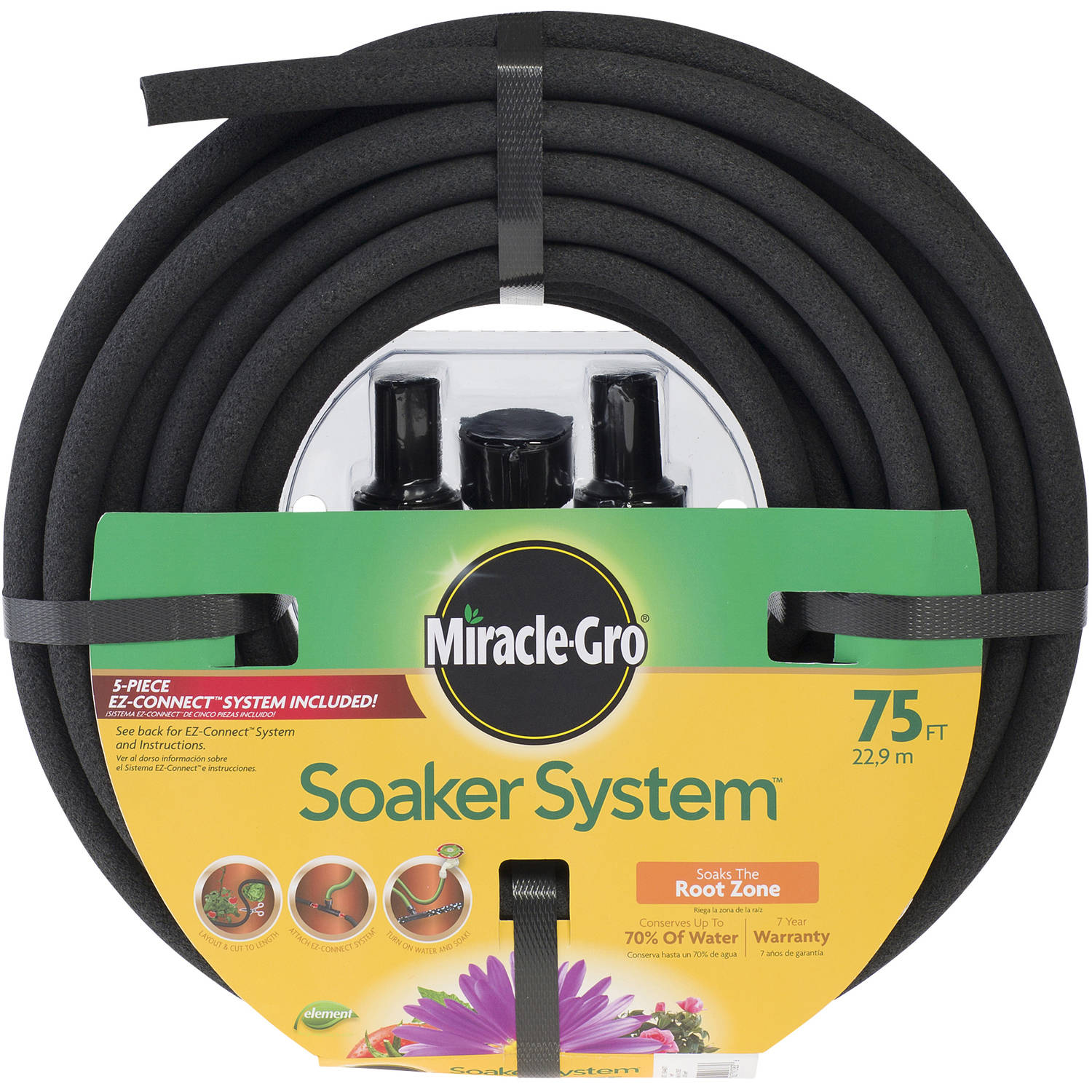 3/8' x 75' Miracle-Gro Soaker Hose