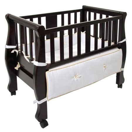 Arm's Reach Sleigh Bed Co-Sleeper, Espresso
