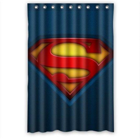 Ganma Superman comfort Shower Curtain Polyester Fabric Bathroom Shower Curtain 48x72 inches - Man Shower