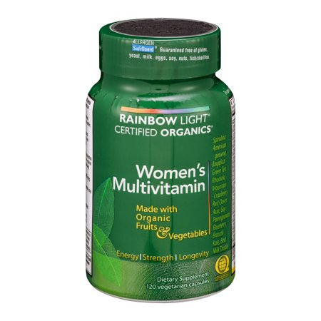 Rainbow Light - Certified Women's Multivitamin, 120 Count, Made With Organic Whole (Best Organic Whole Food Multivitamin)