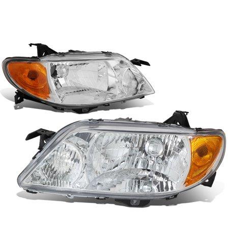 For 2001 to 2003 Mazda Protege Headlight Chrome Housing Amber Corner Headlamp 02 (2000 Mazda Protege Headlight)