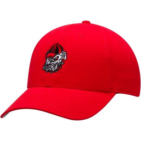 Youth Red Georgia Bulldogs Team Basic Adjustable Hat - OSFA