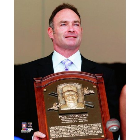 (Paul Molitor 2004 Hall of Fame Induction Ceremony Photo Print)