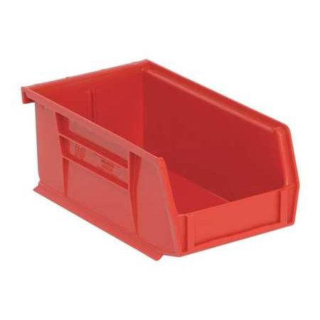 Quantum Red Storage Cabinet - QUANTUM STORAGE SYSTEMS QUS220RD Red Hang and Stack Bin, 7-3/8