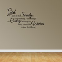 God Grant Me The Serenity Courage Wisdom Wall Decal Vinyl Sticker Art Quote