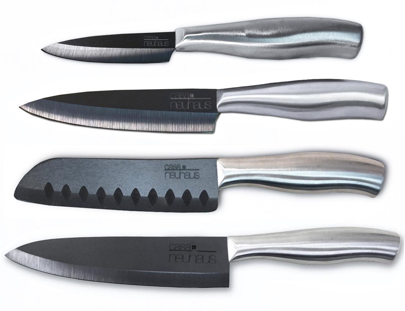 "Casa Neuhaus Deluxe Set 3"" Paring Knife, 5"" Utility Knife, 5"" Santoku Knife & 7"" Chef's... by Casa Neuhaus"
